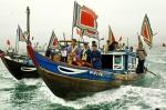 La cérémonie «Invocation pour une bonne pêche» est aussi d'offrande pour la baleine, qui a lieu chaque année le 20e jour du 1er mois lunaire.