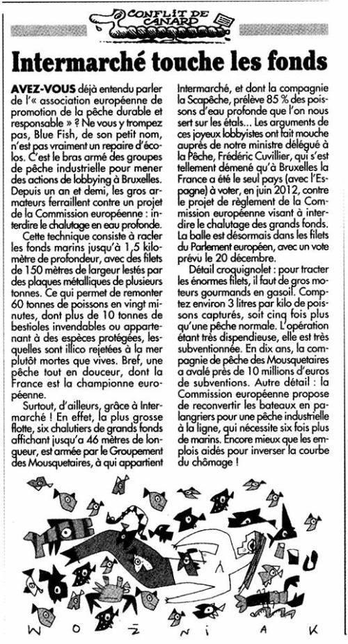 Canard enchaîné du 04/12/2013