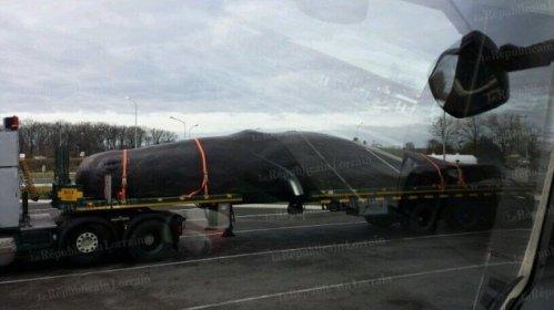Le convoi et sa baleine ont attiré l'attention de nombreux automobilistes qui n'ont pas manqué d'immortaliser l'instant. Photo Guillaume Machu