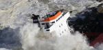 Vue aérienne du cargo échoué le 5 février 2014 à Anglet, dans les Pyrénées-Atlantiques. (Regis Duvignau / Reuters)