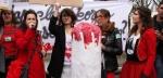 La manifestation organisée par le collectif Georgette Sand au Chatelet le 11 novembre contre la taxe tampon. (Sipa)