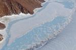 Le changement climatique modifie la structure de la calotte glaciaire.